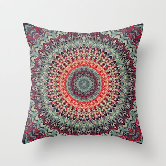 Mandala 300 Throw Pillow by Patterns Of Life  | Society6
