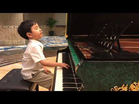 """Chopin Minute Waltz"" by 5-Year-Old Evan Le"