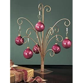 Christmas Tree 12 Quot H Ornament Display Stand Tree Holds 12