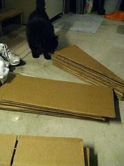 Cat scratcher pieces