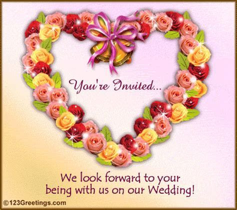 You Are Invited! Free Wedding eCards, Greeting Cards   123