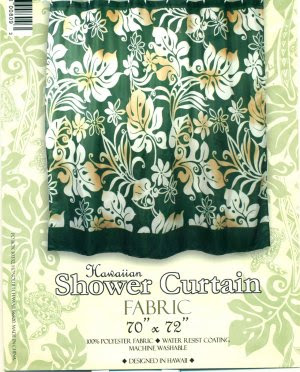 Hawaiian Tropical Fabric Shower Curtain (Hibiscuss Flower)