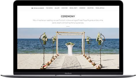 wedding website create your own custom site
