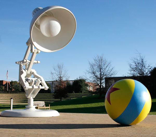 pixar lamp ball. pixar light bulb and all