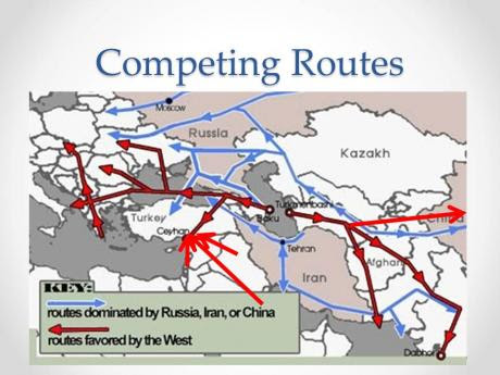 Battle in Syria is about By Passing Iran .... Look at this map!