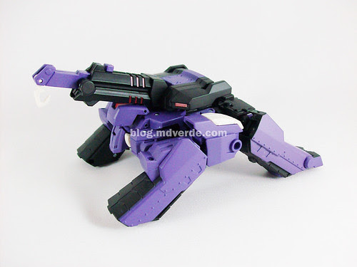 Transformers Shockwave Animated Voyager - modo grúa