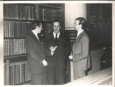 García Lupo con Borges.