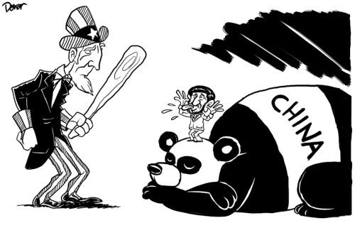 iran and china cartoon
