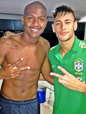 Samir Caetano e Neymar treinjo seleção brasileira brasil (Foto: Reprodução/Instagram)