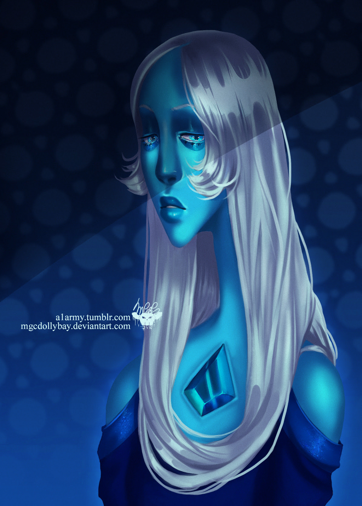 ''What's the use of feeling Blue''I just realised I never uploaded my Blue Diamond art^^ I've also got a speedpaint of this