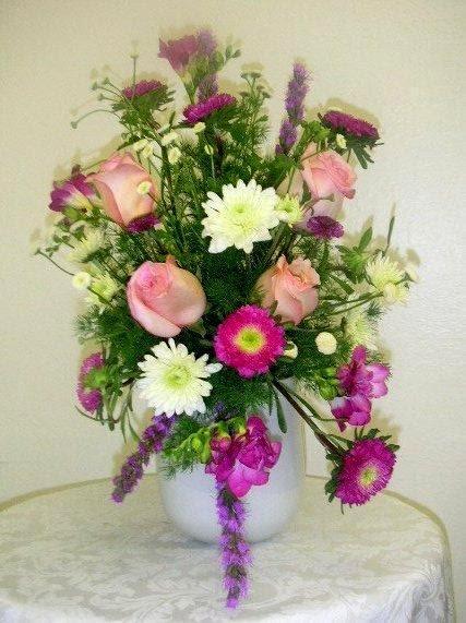 Wedding Anniversary Flower Arrangement California Flower Art Academy
