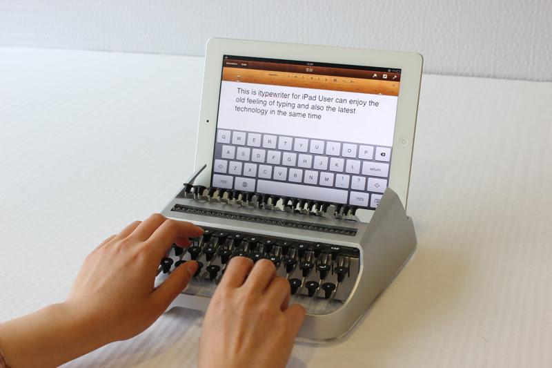 dock convierte ipad en antigua maquina de escribir tipear