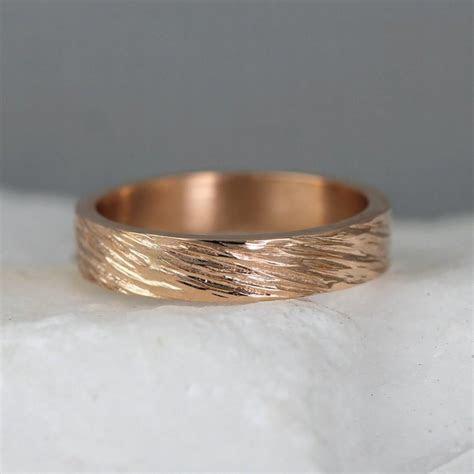 Rose Gold Men's Wedding Band   14K Rose Pink Gold