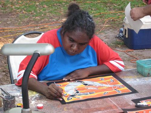 Indigenous artist Mindil Beach Market
