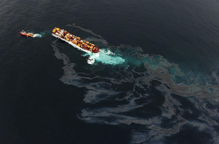 Ρένα oild διαρροή: Περισσότερες Πετρελαιοκηλίδες από πληγεί φορτηγού πλοίου