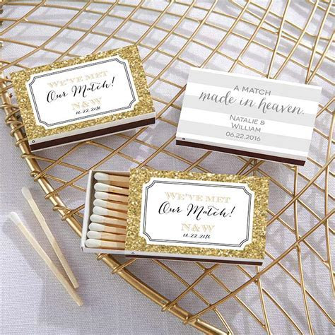 Personalized Wedding Day Designs White Matchboxes (Set of