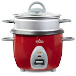 Rival 6-cup Rice Cooker With Steamer Basket Red (rc61)