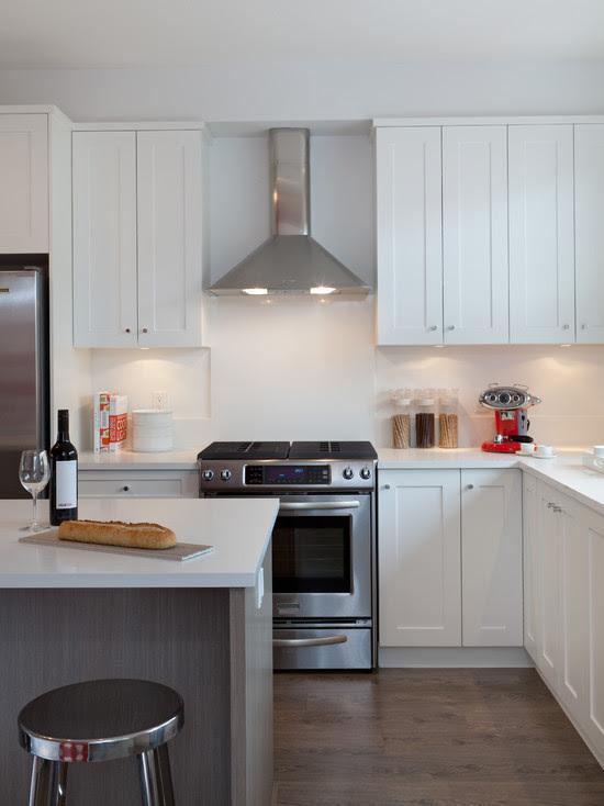 White Shaker Cabinets - Contemporary - kitchen - Portico
