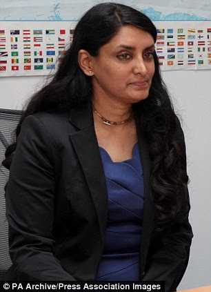 Discovery: Three female slaves, one held for more than 30 years, have been discovered in London after one contacted a chairty run by Aneeta Prem (pictured)