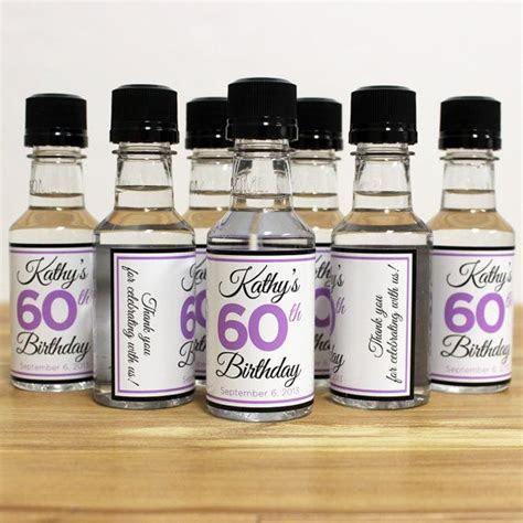 Custom Mini Bottle Birthday Favors Personalized Liquor