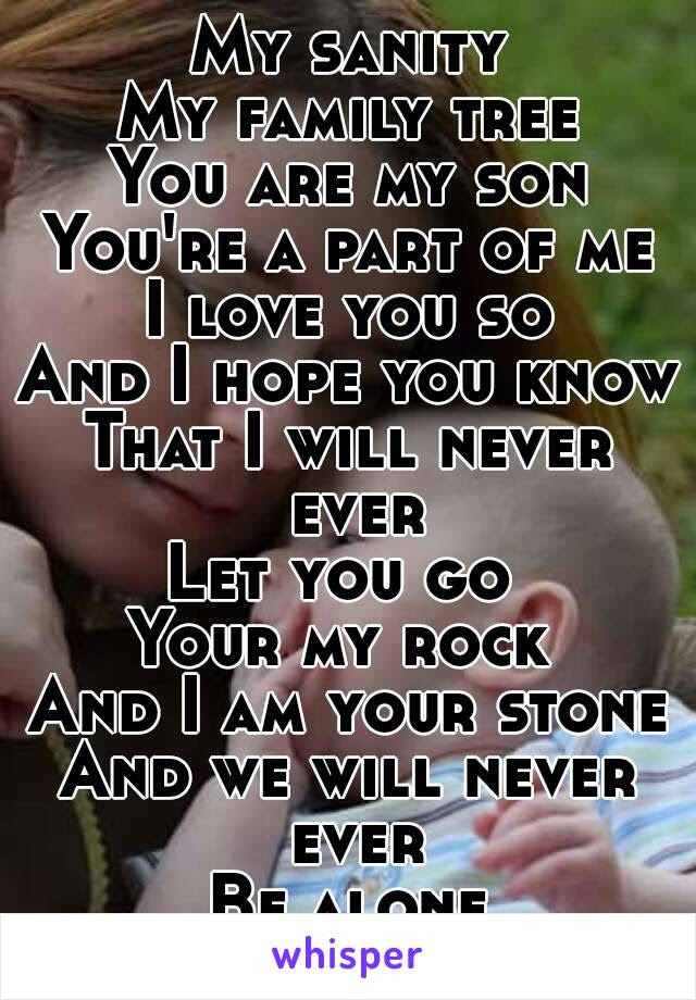 My Sanity My Family Tree You Are My Son Youre A Part Of Me I Love