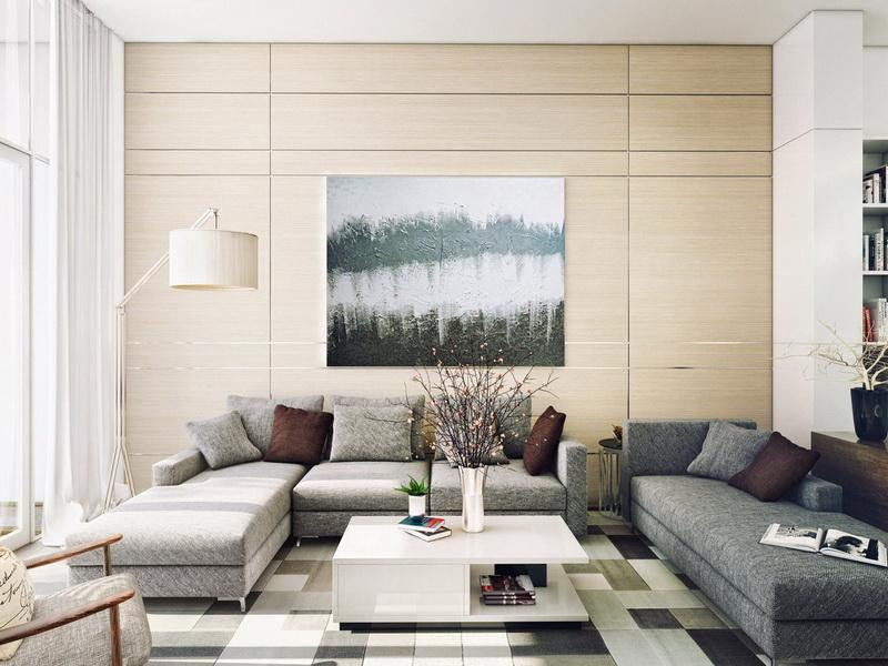 Contemporary Living Room Wall Art Wall Decoration Pictures