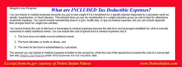 Tax Deduction For Weight Loss Camp