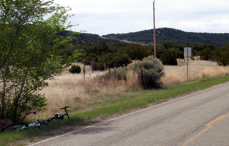 The road cut for the upper half of Heartbreak Hill can be seen.