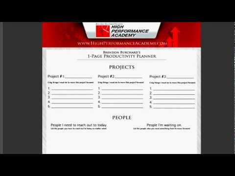 Productivity Tools - Free Personal Productivty Planner.mov - YouTube