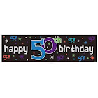 Birthday Banner 50 The Party Continues 3817