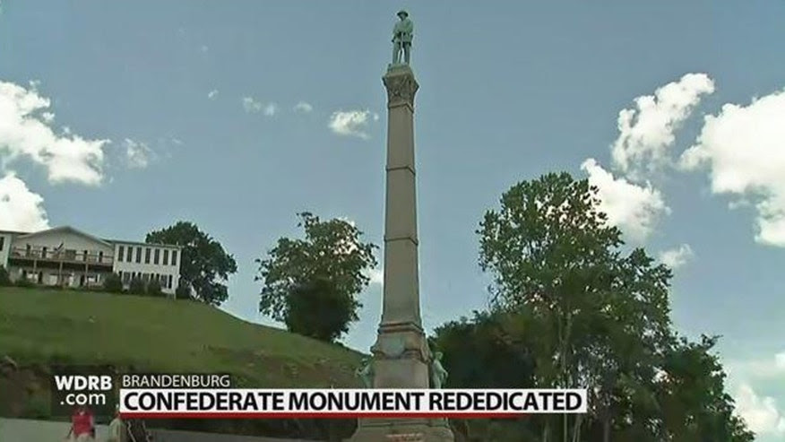 The confederate monument that stood outside The University of Louisville for years and led to a legal battle finally has a new home.