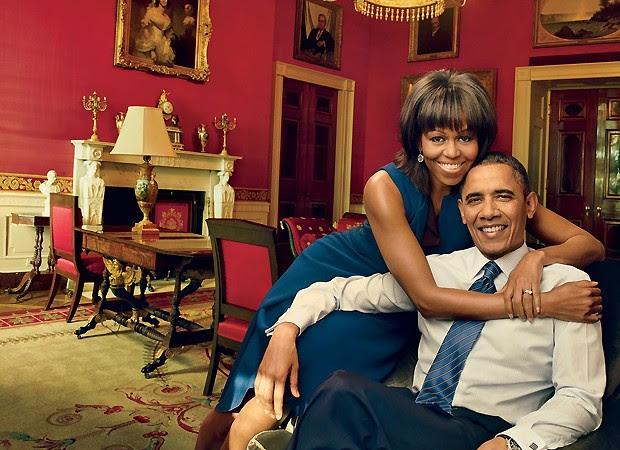 Michelle e Barack Obama (Foto: Reprodução)