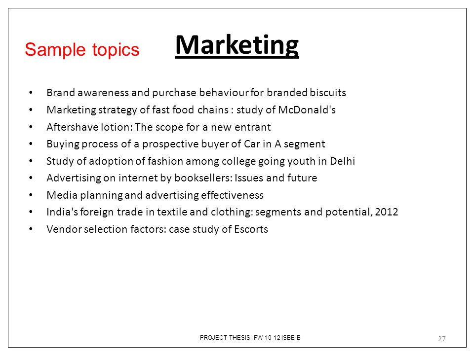 Thesi Title For Abm Student Idea College Advertising Dissertation Topics