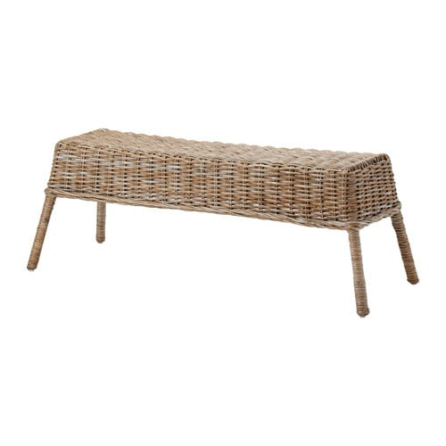 NIPPRIG 2015 Banco IKEA Feito à mão, sendo cada peça única. Os móveis fabricados com fibras naturais são leves, mas também resistentes e duradouros.