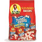 Sun Maid Yogurt Raisins, Red, White & Blue, Vanilla, Mini-Snacks - 10 boxes, 5 oz