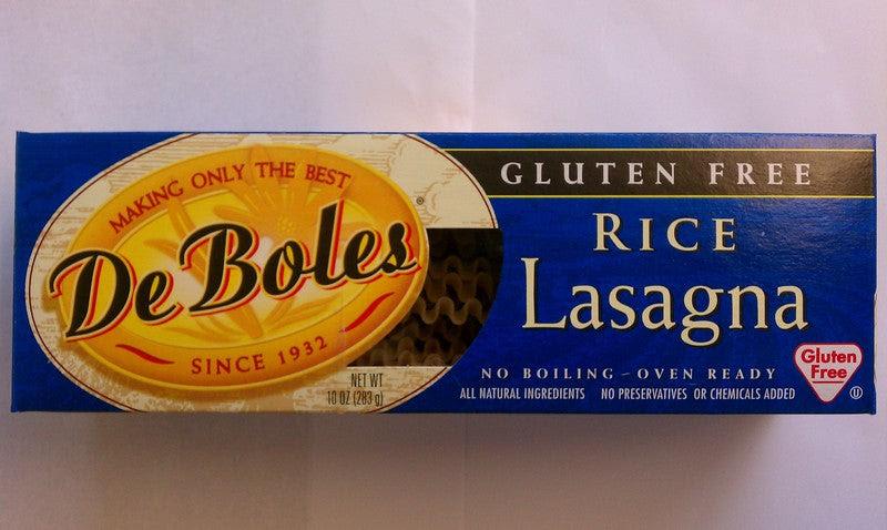 De Boles Rice Lasagne - The Gluten Free Shoppe