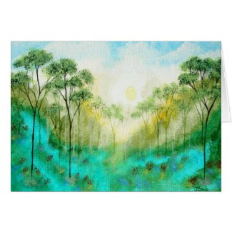 Serenity Greeting Note Card From Original Painting
