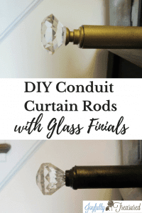 Diy Conduit Curtain Rods With Glass Finials And Diy Curtain Brackets