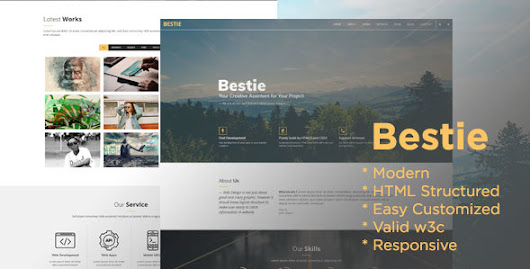 Bestie Agency - One Page Creative Agency HTML Template