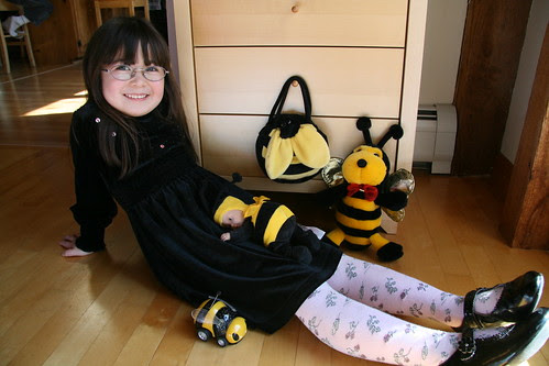 Dova with her bees