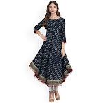 Amayra Women's Cotton Anarkali Kurti - X-Large