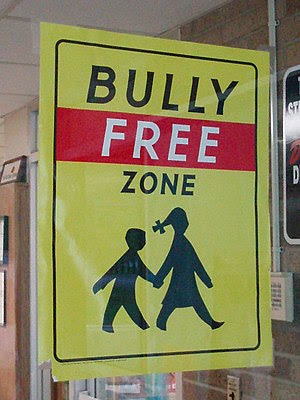 A Bully Free Zone sign - School in Berea, Ohio