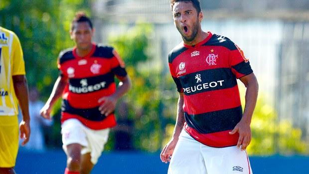 Ibson comemora gol do Flamengo contra o Madureira (Foto: Alexandre Loureiro / VIPCOMM)