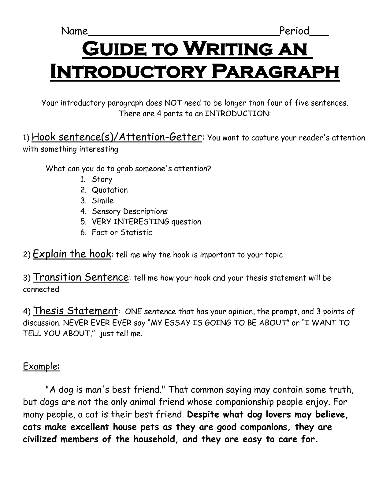 how to write an introduction paper