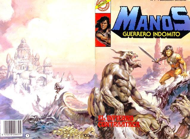 Manos Guerrero Indomito, Cover #1