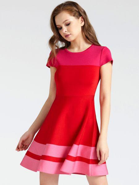 Robe Imprimé Color Block