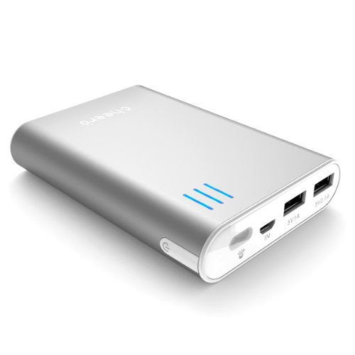 cheero Power Plus 2 10400mAh (シルバー) 大容量モバイルバッテリー ★2.1A,1A 2出力ポート★ 安全設計(過充電/過放電/発熱時/短絡化時 自動停止)★半年保証★マルチデバイス対応 (各種スマホ/iPhone5/iPad/wifiルータ/kindle等対応)