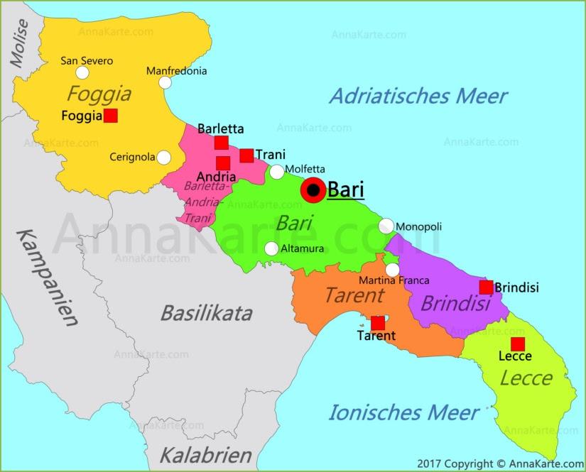 Apulien Karte Italien.Apulien Karte Karte