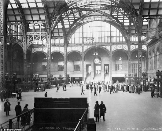 Majestic photos of old Pennsylvania Station show its architectural beauty before it was demolished in 1963 to make way for Madison Square Garden