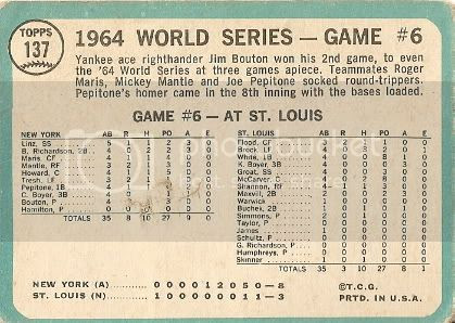 #137 World Series Game Six: Jim Bouton Wins Again (back)
